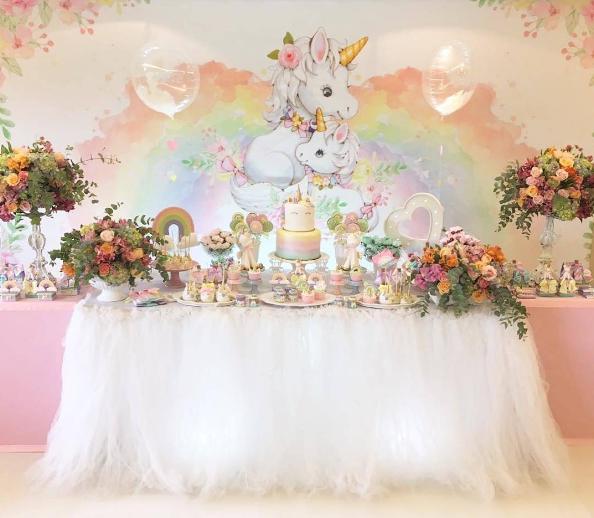 Birthday decoration for unicorns