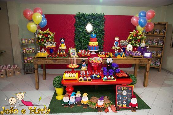 Snow White Party Dessert Tables