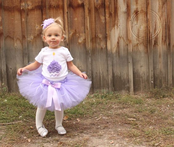 Tutus for Purple Cupcake Theme Parties