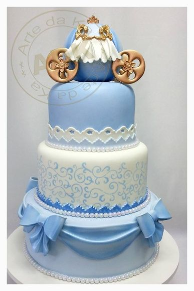 Cinderella 3-story party cakes