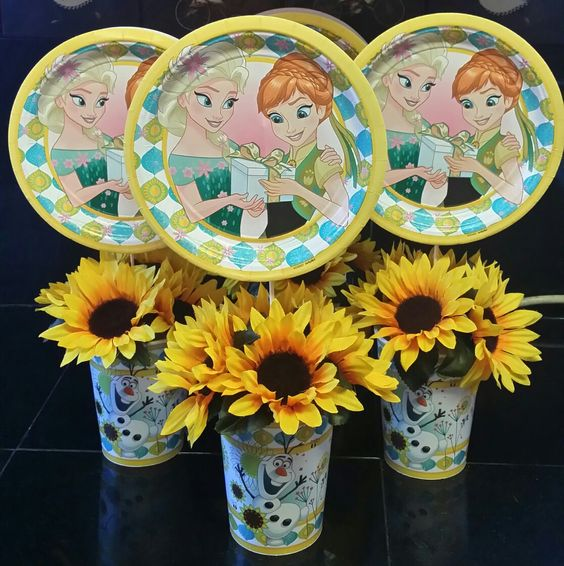 Frozen Fever Centerpieces