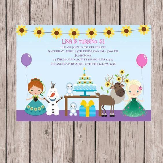 Invitations of frozen fever