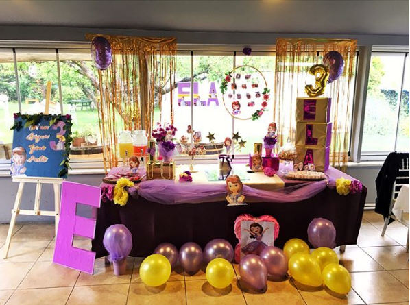 Ideas to decorate a princess sofia party