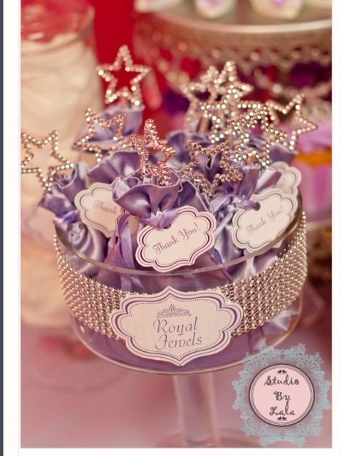 Princess Sofia's party souvenirs