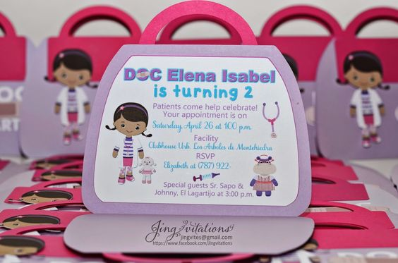 Doctor Toys Invitations
