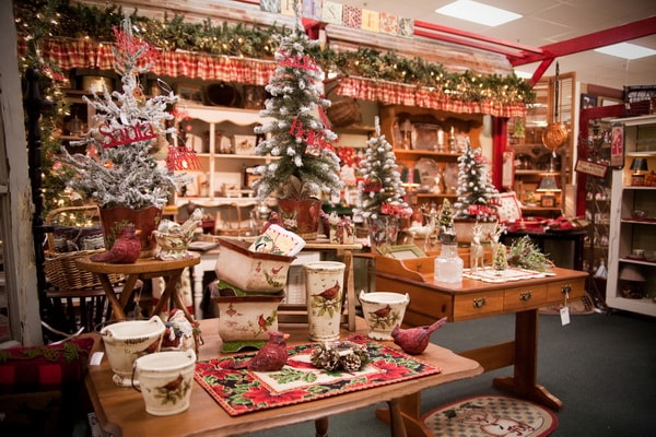 Shop decorations for Christmas