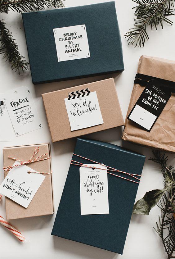 Gift-wrapping in an original way IX