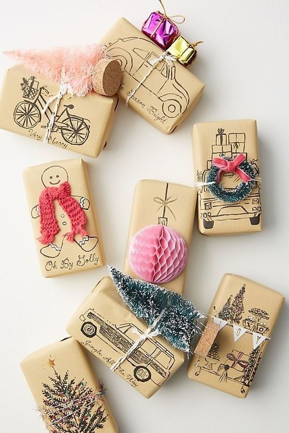 Gift-wrapping in an original way V