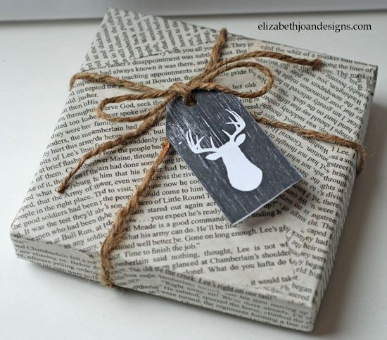 Gift-wrapping in an original way X
