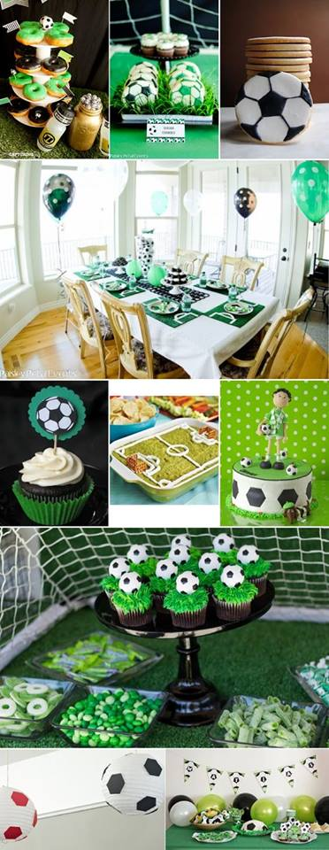 Children's party with a football theme