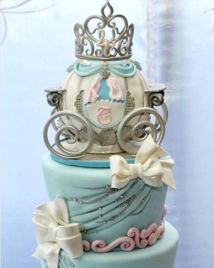 Cinderella cakes in fondant