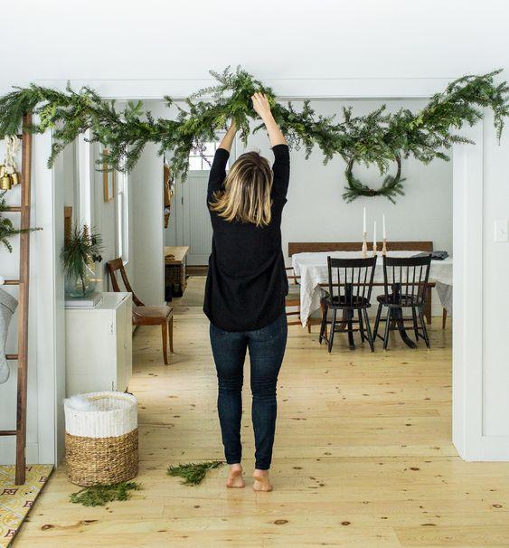 natural christmas decoration at home