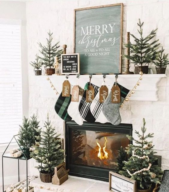 Natural Christmas decoration at home VIII
