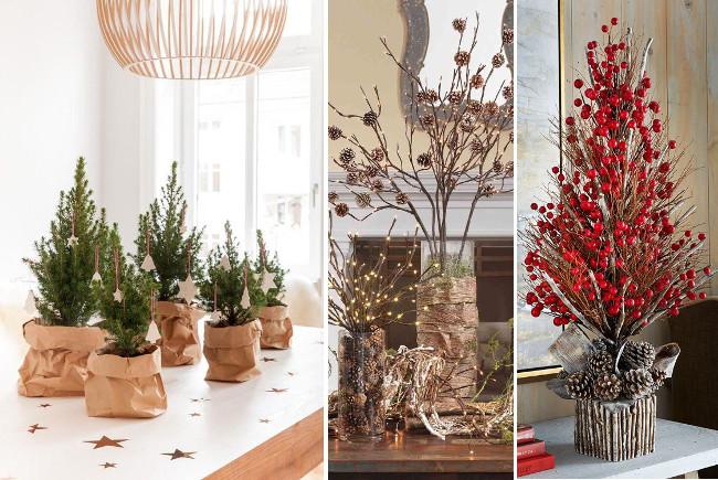 natural christmas decoration at home VI