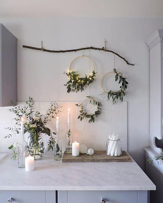 natural christmas decoration at home III