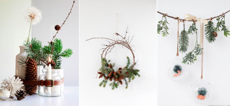 Natural Christmas decoration at home VII