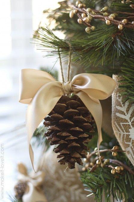 natural christmas decoration at home IX