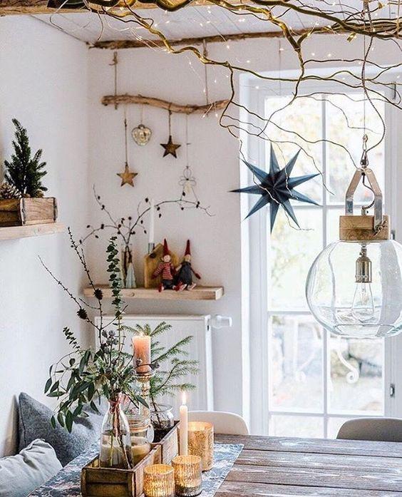 natural christmas decoration at home IV