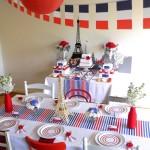 Decoration of paris parties