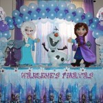 Frozen balloon decoration