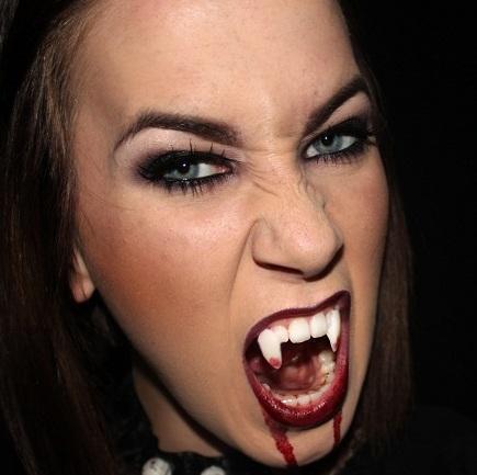 Como fazer uma fantasia de vampira - Vampire Machiagem