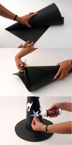 How to make a witch's fantasy - Witch's cap with EVA or cardboard