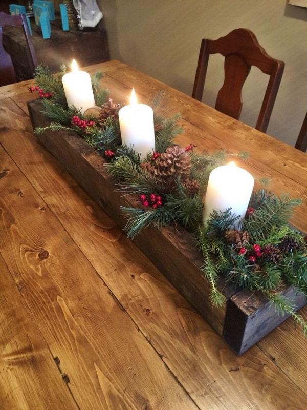 DIY Christmas Centrepieces