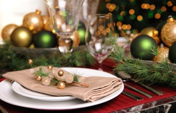 How to decorate a table for Natal