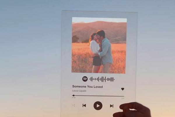Presentes de 1 mês de namoro - Quadrinho personalizado de musica