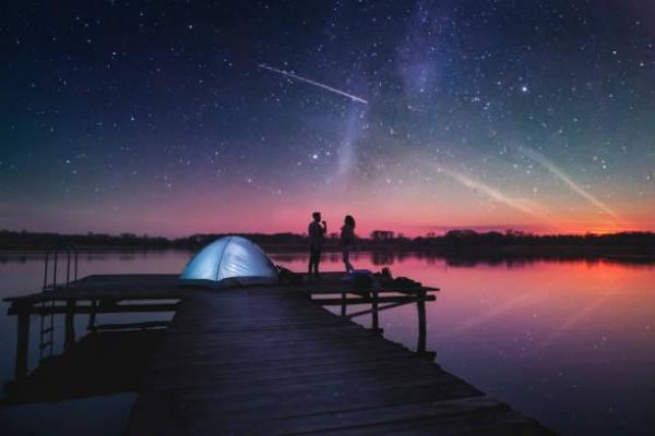 Presents of 1 month of love - Supresa de um mês namoro: dormir sob as estrelas