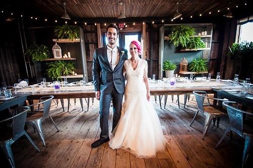 Mini wedding: rustic decoration with plants