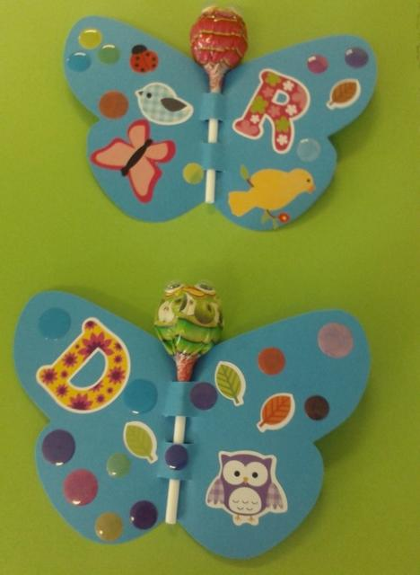 lollipop with butterfly souvenirs