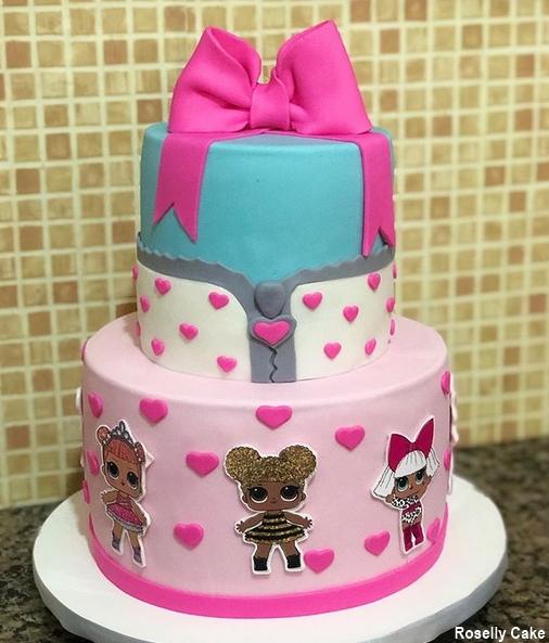 2-story decorated cake