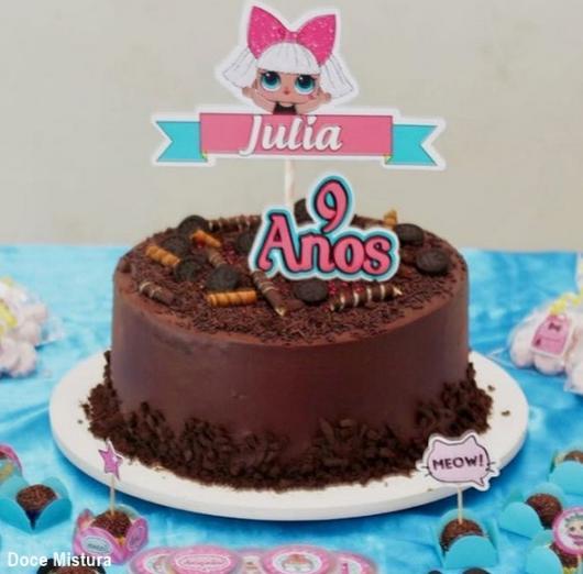 personalized chocolate cake