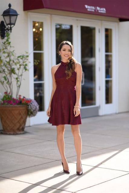 short dress with pumps