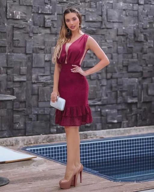 short and elegant dress