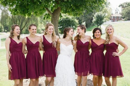 dress like bridesmaids