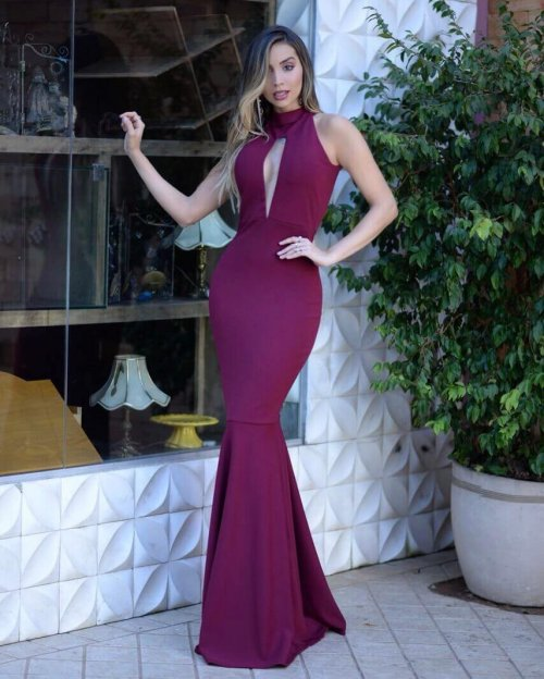 dress with high collar