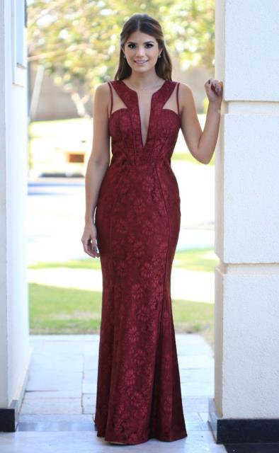 lace dress with neckline