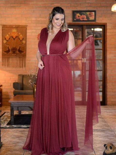 low-cut plus size dress