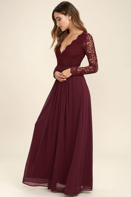 dress with lace on the sleeves