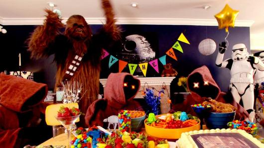 The entire universe of star wars at your birthday party