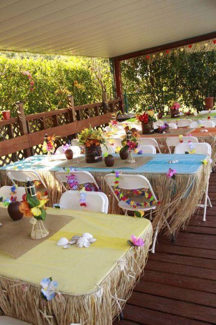 Hawaiian party decoration ideas