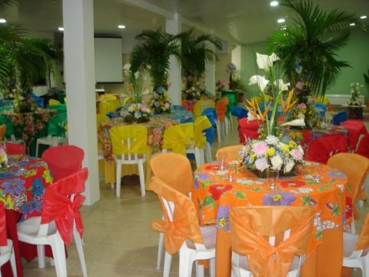 colorful hawaiian party
