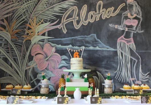 Hawaiian party decoration