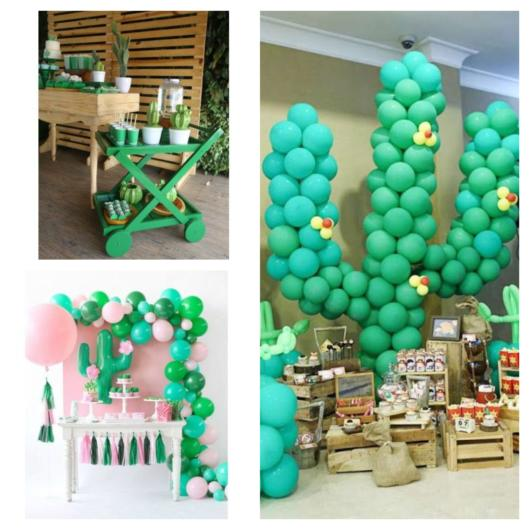 Balloons and wood help in the assembly and decoration of the celebration
