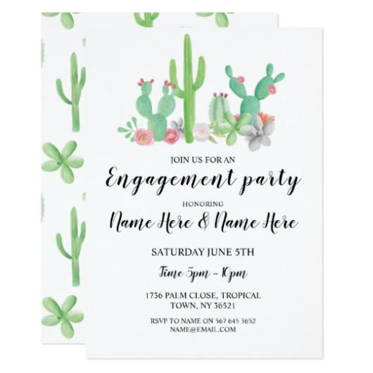 Follow this pattern that, for sure, you will have a beautiful cactus party invitation