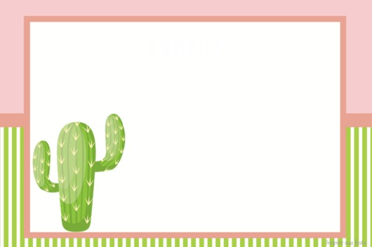 Cactus party invitation to edit and print free