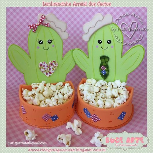 Cacti with popcorn compartments