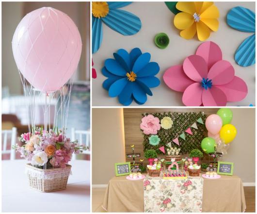 flowers theme party decoration